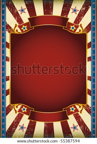 American nice poster. American poster for your advertising. - stock vector