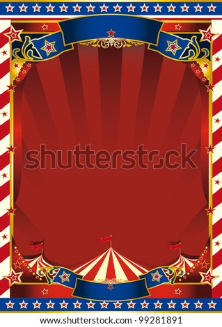 american old striped circus background. An american circus background for you - stock vector