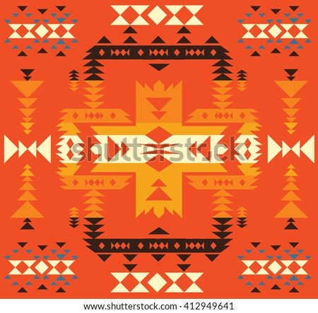 American or mexican background with traditional ornament. - stock vector