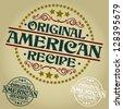 American Original Recipe Seal / Badge - stock vector