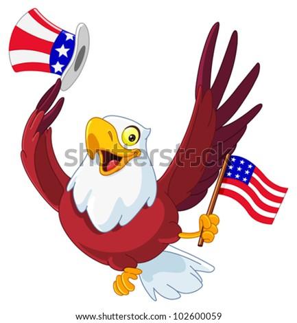 American patriotic eagle - stock vector