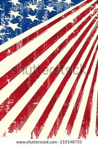 American patriotic flag. An american grunge background with a texture for you.  - stock vector