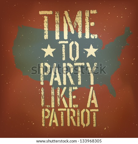 American patriotic poster, vector, EPS10 - stock vector