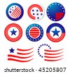 American patriotic symbols set for design and decorate or logo template. Jpeg version is also available - stock photo
