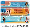 American patriotic vacation banners.. To see similar, please VISIT MY PORTFOLIO