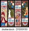 American patriotic vertical banners.  To see similar, please VISIT MY PORTFOLIO - stock vector