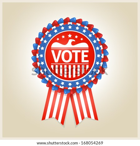 American patriotic vote label for any election process