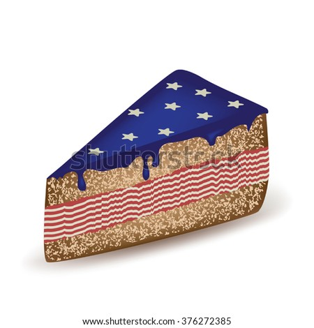 American Piece Of Cake - stock vector