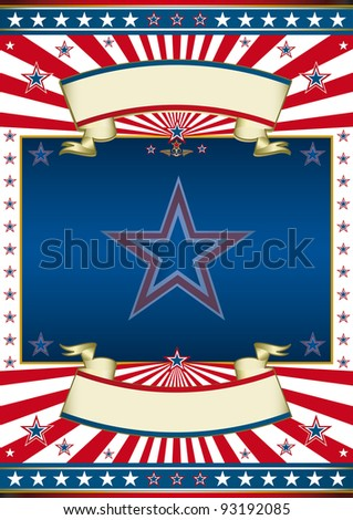 American politic frame. A traditional american poster for you. - stock vector