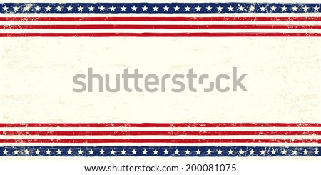 American postcard. An american postcard for you with a large empty space for your text - stock vector