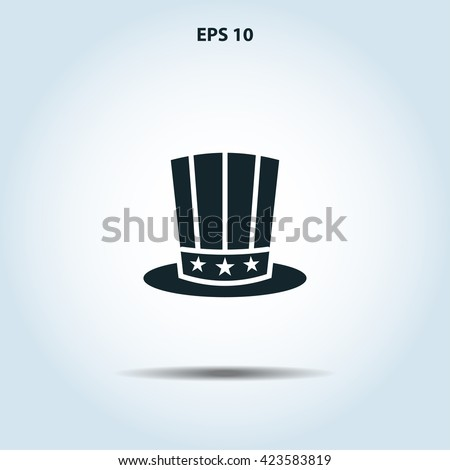 american president day hat icon - stock vector