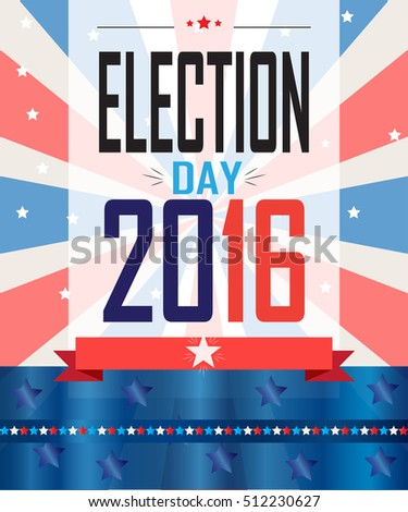 American Presidential Election Background Poster Brochure Stock