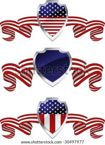 American protection symbols - stock vector