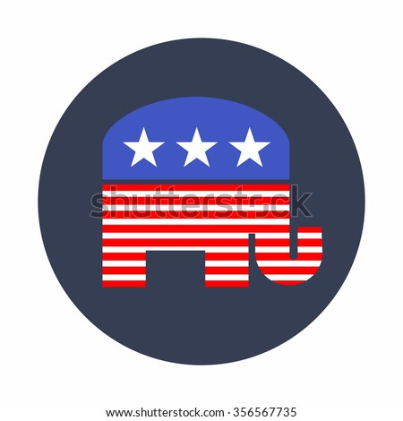 American Republican Elephant Vector - stock vector