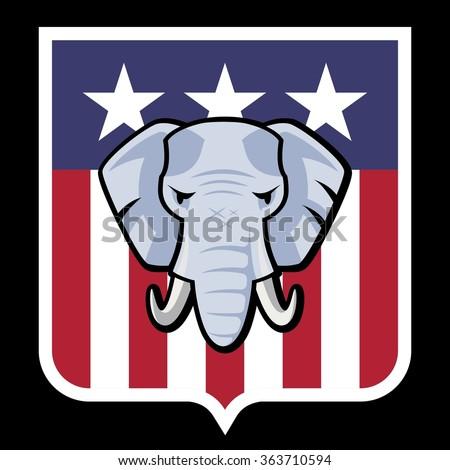 American Republican Party Election Elephant Symbol Stock ...