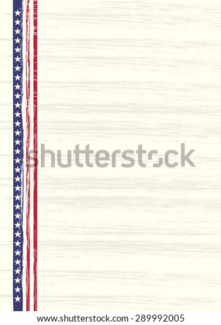 American retro style illustration at A4 sheet size. CMYK colors. 4th of July. - stock vector