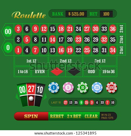 American Roulette. Vector. - stock vector