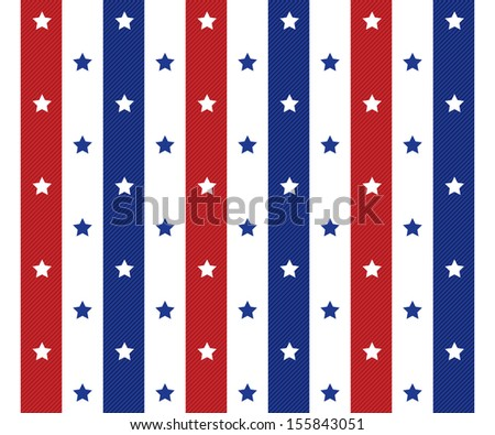 american seamless polka star pattern background   - stock vector