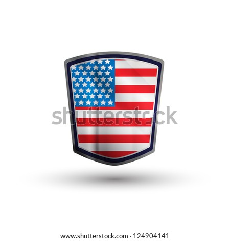 american shield - stock vector
