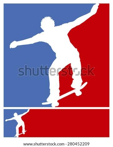american skate frames - stock vector