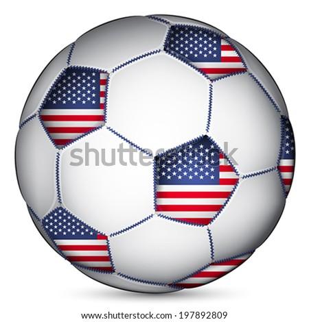 American soccer ball, vector - stock vector