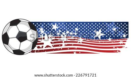 American Soccer Football Flag vector illustration. - stock vector