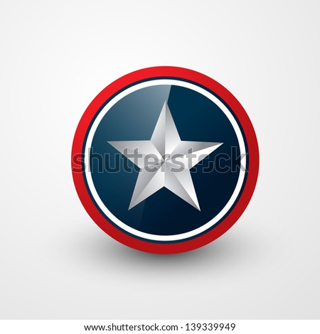 american star shield vector design - stock vector