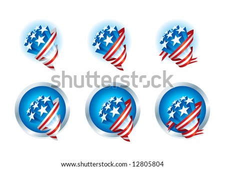American Stars Bouquets series - stock vector