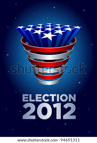 American Stars bunch Election 2012. Elements are layered separately in vector file. - stock vector