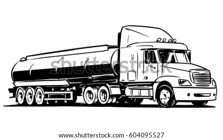 american tanker semitruck isolated on white stock vector semi truck clip art images top view semi truck clip art pictures