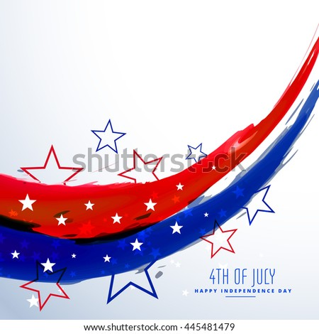 american 4th of july celebration background - stock vector