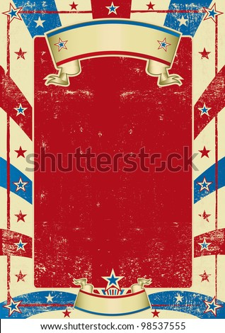 american used poster with red frame. a grained background for your message. - stock vector