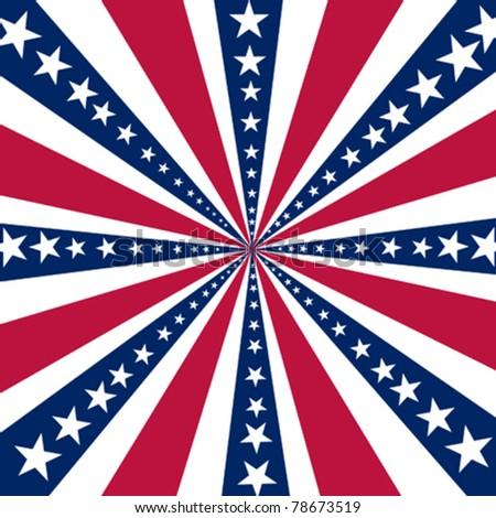 American vector background - stock vector