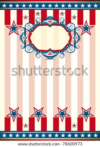 American wallpaper A poster for your advertising. - stock vector