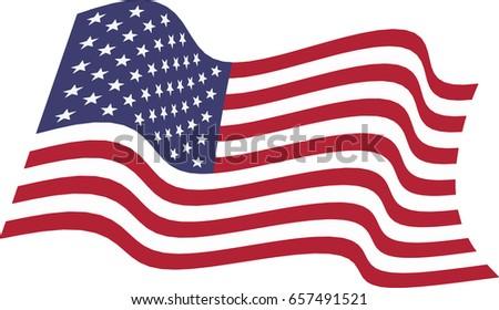 american waving flag vector illustration stock vector hd royalty rh shutterstock com waving flag vector graphic waving flag vector art