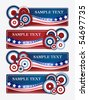 Americana Banners - stock vector