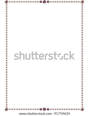 Amethyst vector Border - stock vector