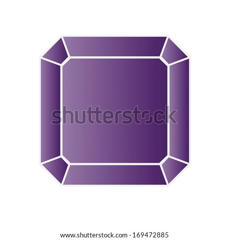 amethyst - vector gemstone illustration