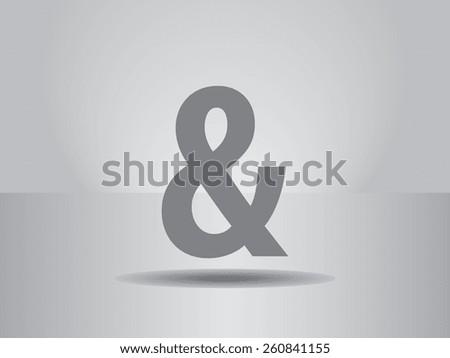 ampersand icon - stock vector