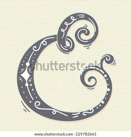 Ampersand symbol - stock vector