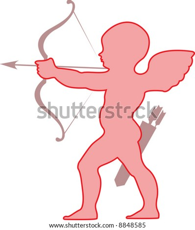 Amur (cherub). A vector illustration. - stock vector