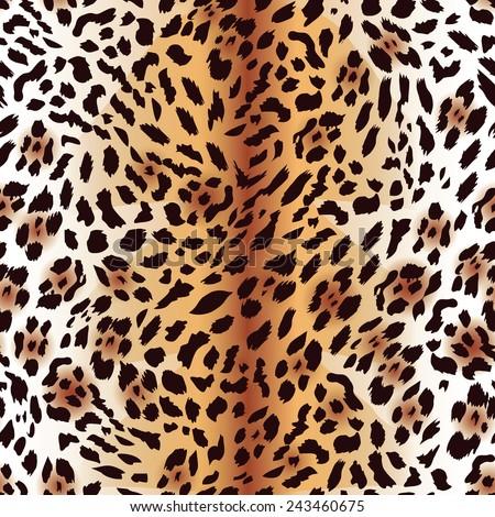 Amur leopard fur seamless vector print - stock vector
