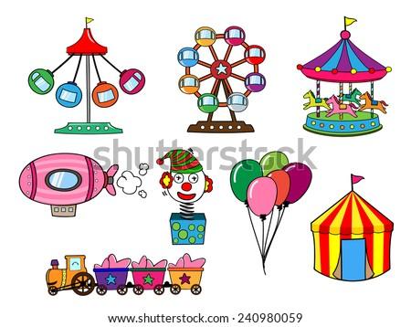 Amusement park Cartoon - stock vector