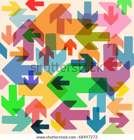 An Abstract Background with Arrows