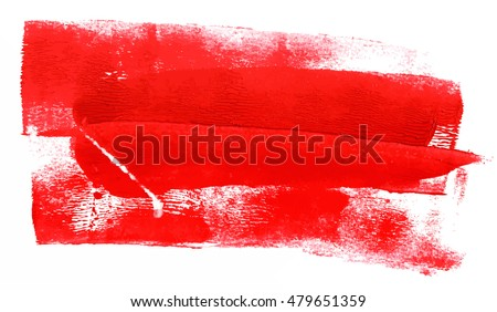 An abstract background with red paint strokes; artistic texture with a place for text; scalable vector graphic