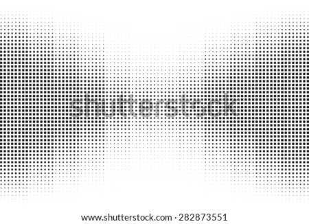 An abstract black and white halftone background. - stock vector