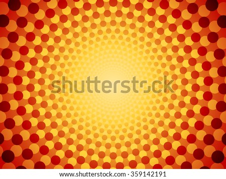 An Abstract Geometric Background with Circles and Dots - stock vector