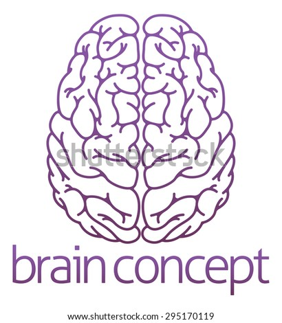 An abstract illustration of a brain concept design - stock vector