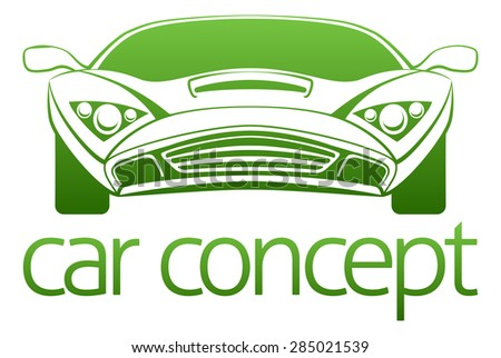 An abstract illustration of a luxury sports car concept design - stock vector