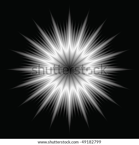 An abstract lens flare. Very bright burst - works great as a background. - stock vector
